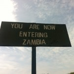 Grenze von Simbabwe nach Zambia