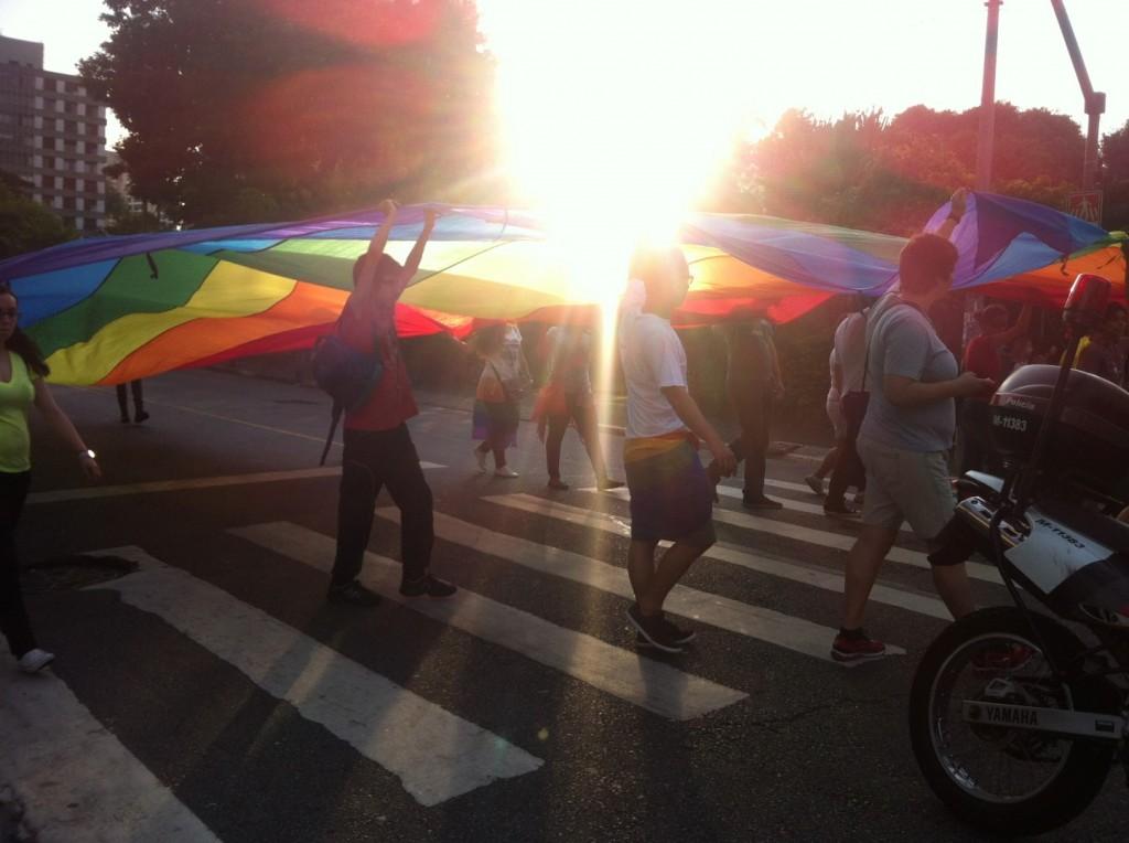 """Gay-Parade"" im Stadtzentrum"