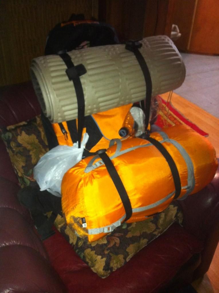Ausrüstung für die Campingtour