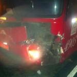 Der Bus nach dem Kuh-Crash