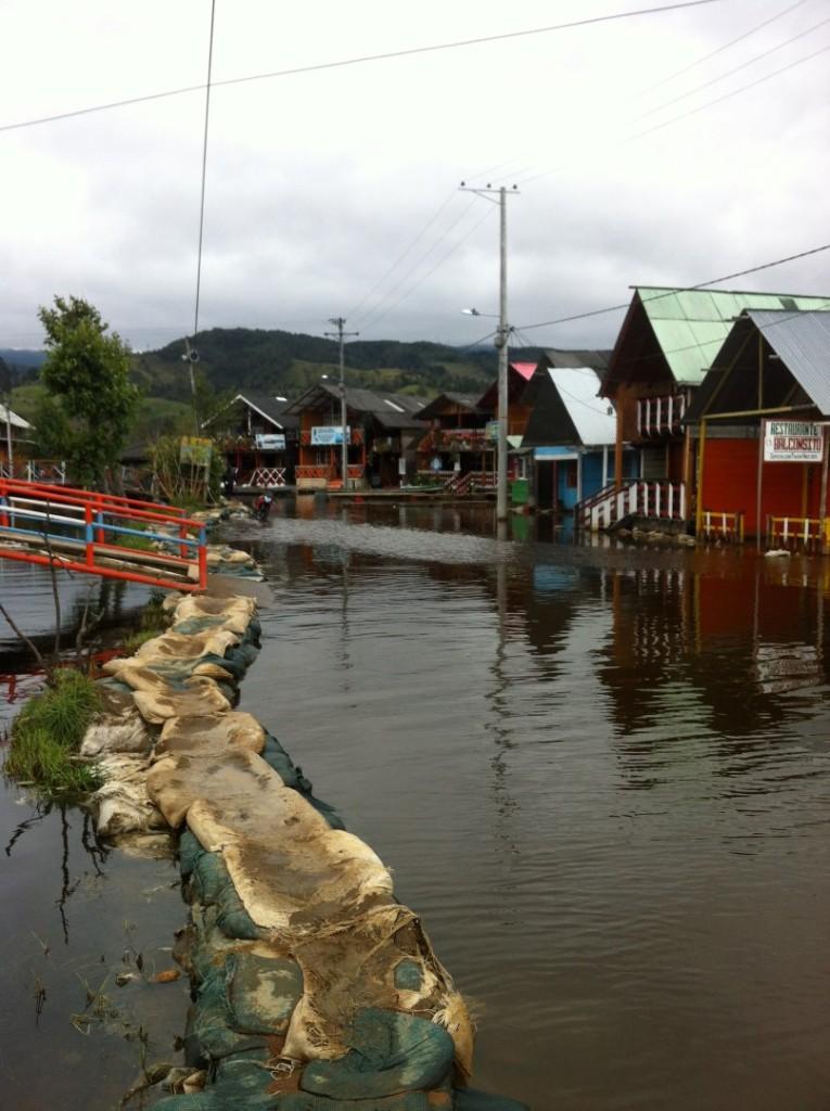 überflutetet See in Pasto