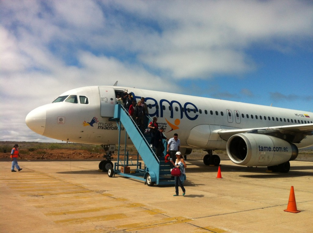 Mein Flugzeug zu den Galapagos-Inseln