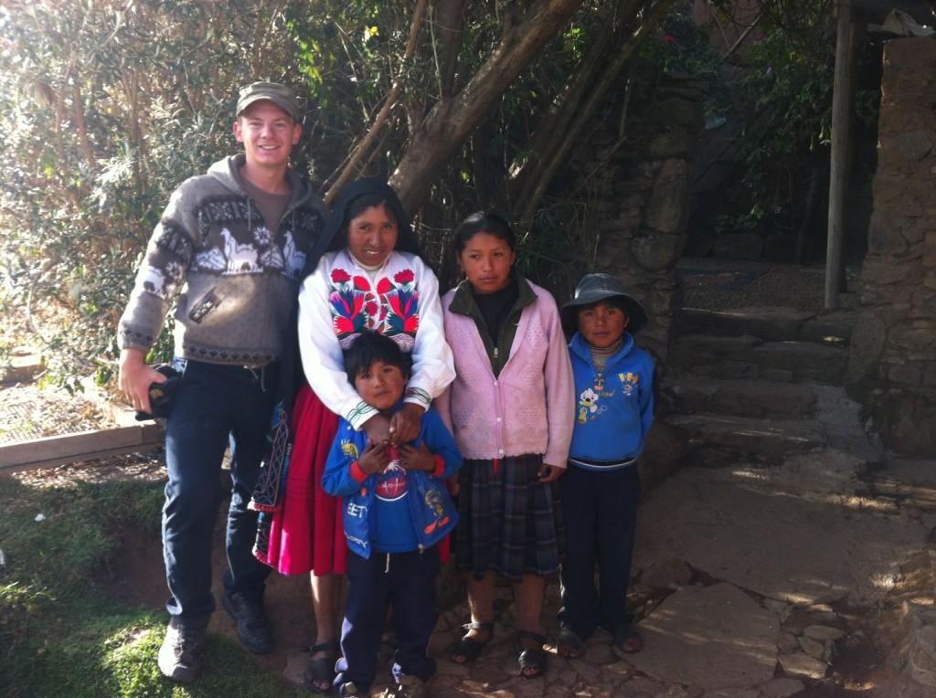 Meine Gastfamilie auf dem Titicacasee