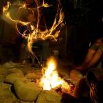 Lagerfeuer auf dem Campingplatz