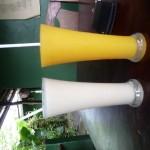 Frische Mango und Banansmoothies